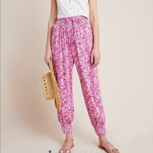 Anthropologie brand abstract joggers SZ S NWT